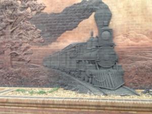 Train sculpture