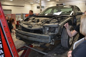 The Chevy Impala they are repairing.
